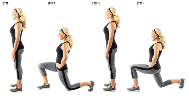 Cellulite exercises walking lunges also as exercises for runners