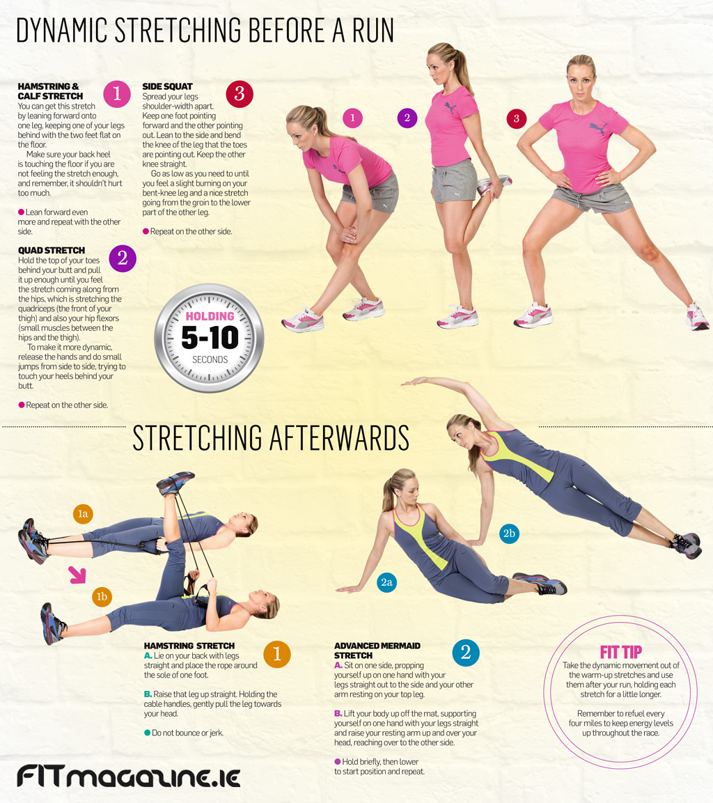 Before and after workouts for runners warm up stretches for runners