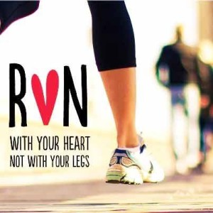 Love running with heart not legs runners motivation quotes
