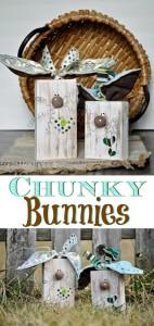 Chunky bunnies spring crafts