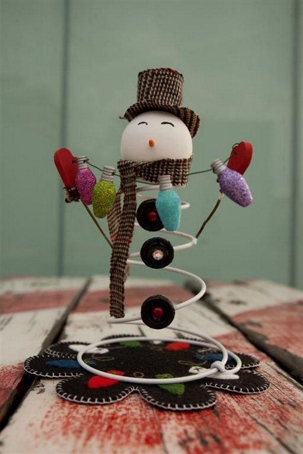 Snowman spring crafts