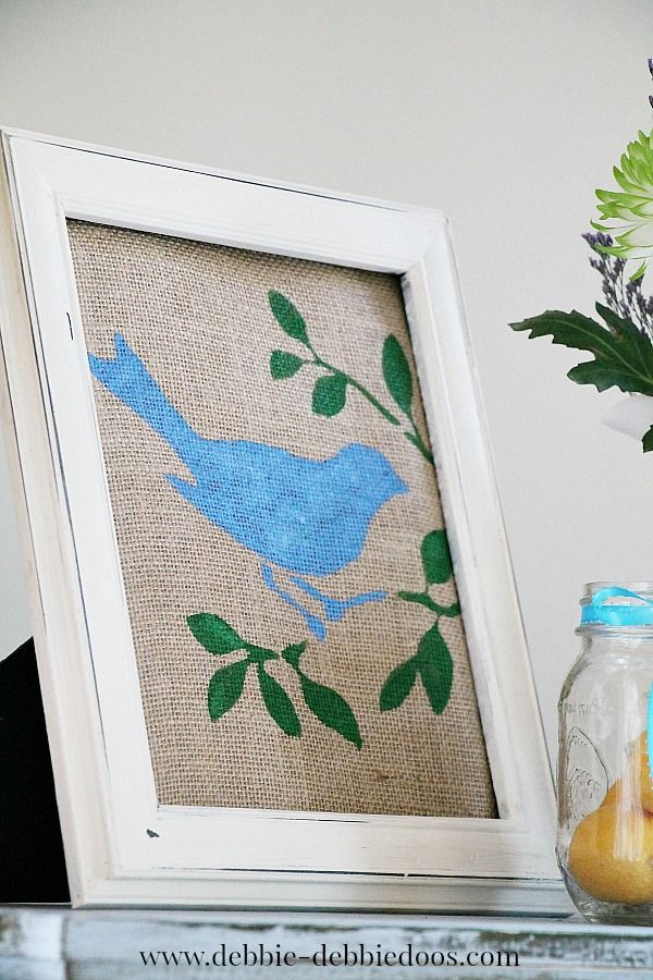 Spring birds canvas spring crafts