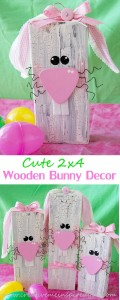 Wooden bunny decor spring crafts