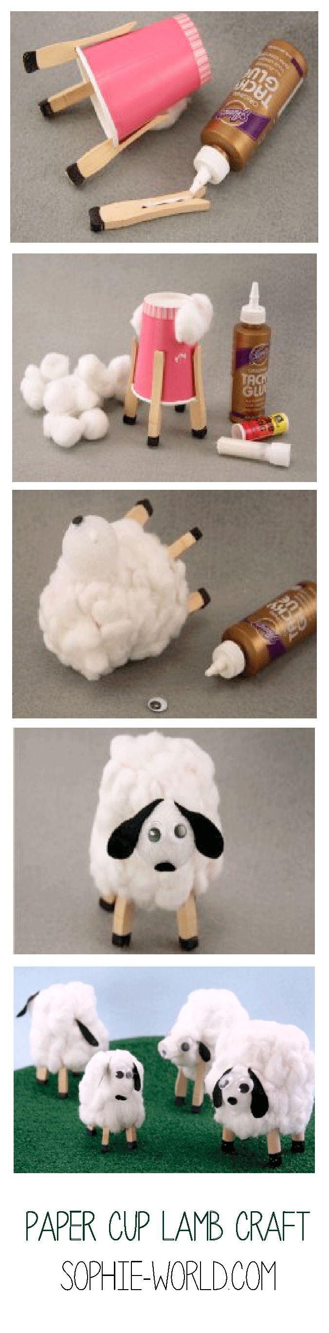Easy Sheep spring crafts