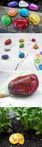 Spring crafts painting crafts on stones Bell pepper