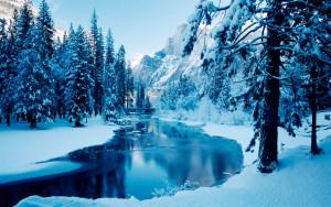 Frozen stream winter wallpapers