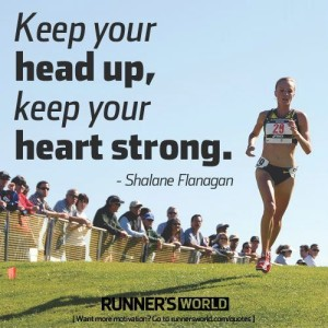 Head up and heart strong runners motivation quotes