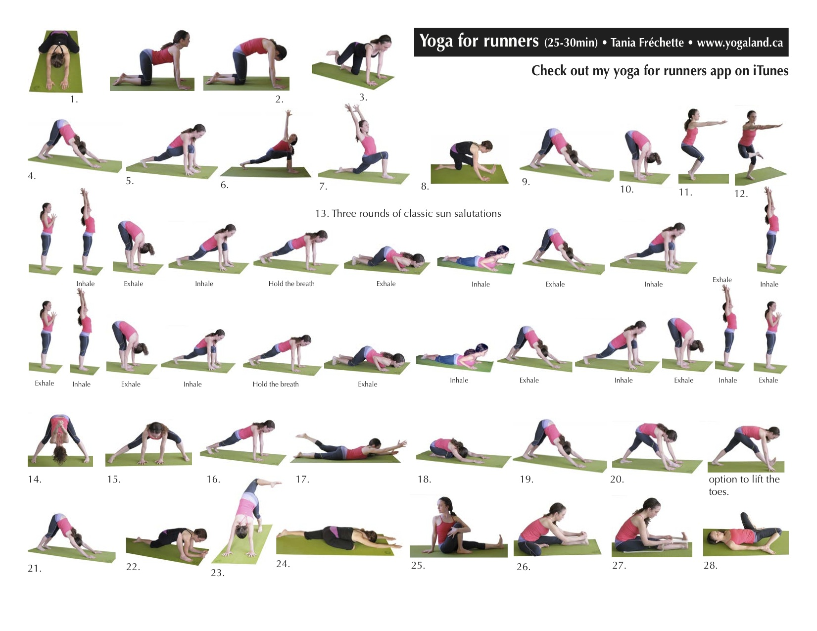 Yoga Runners Sequence Poses Yoga For Runners Truly Hand