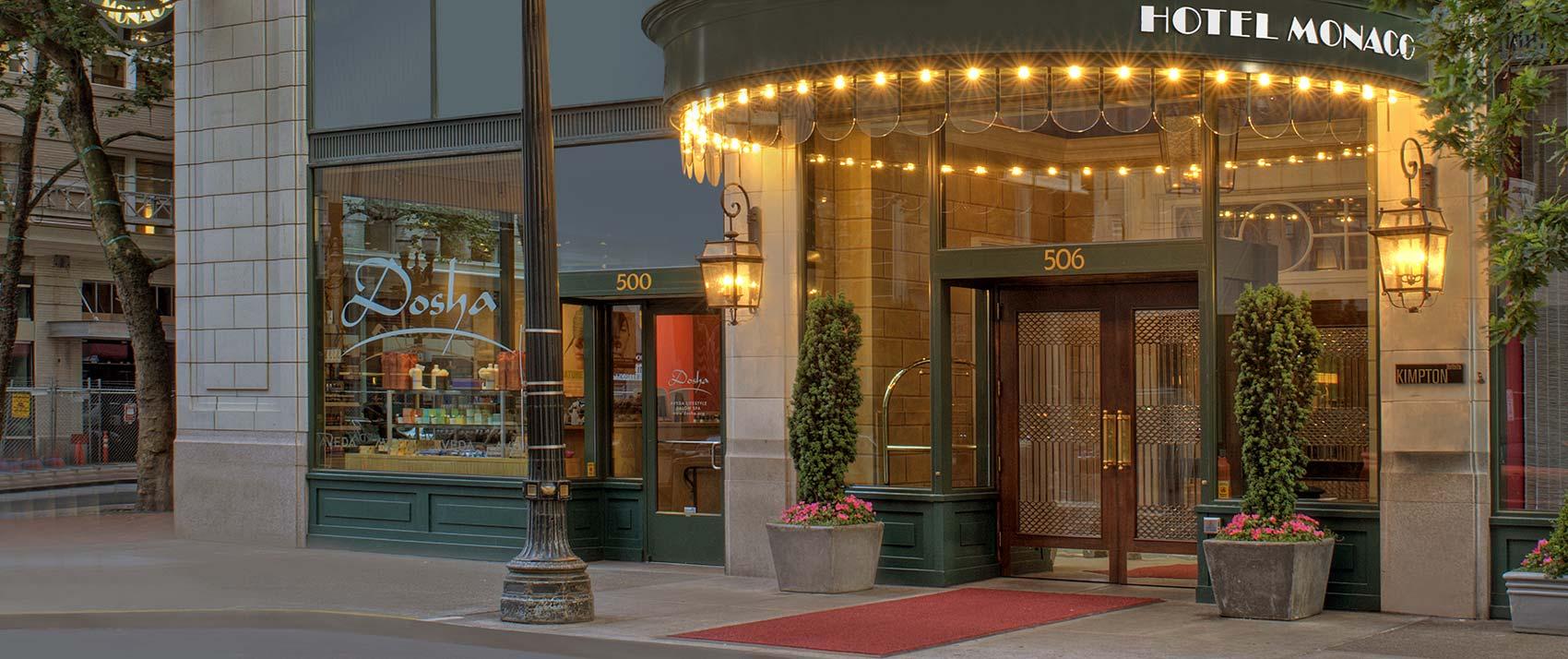 Entrance Hotel Monaco Portland