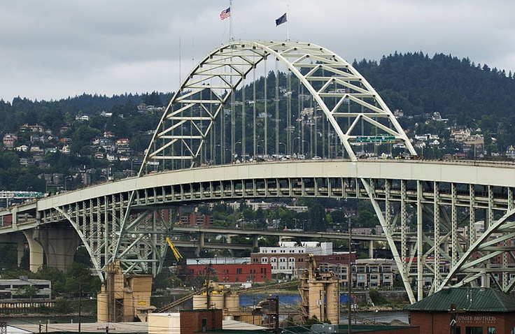 Fremont bridge Portland via pinterest