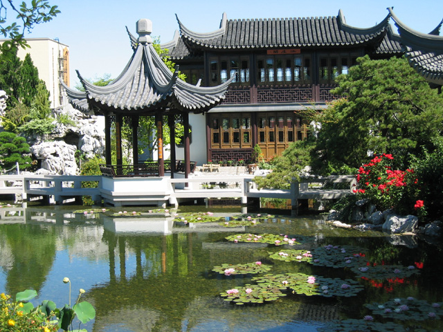 Clear water ponds Chinese Garden Portland