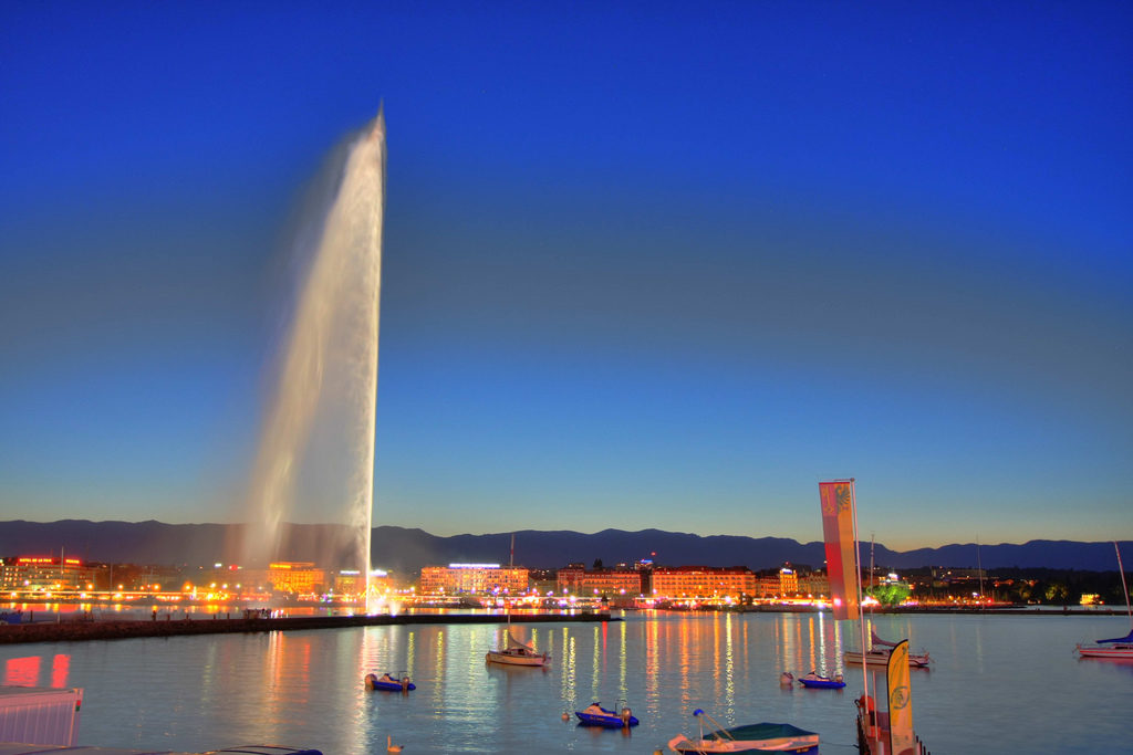 Jet d'eau Geneva Switzerland Attractions