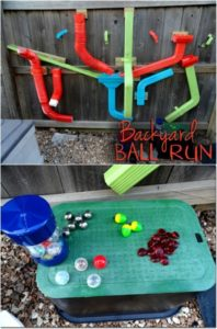 Backyard Ball and Marble Run