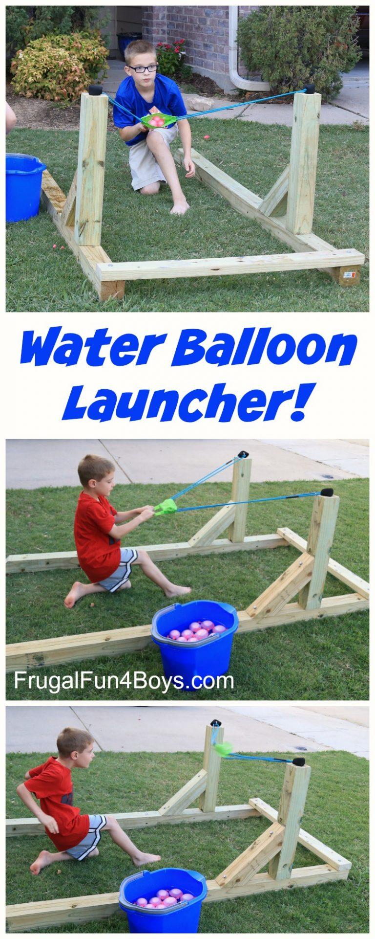 Backyard outdoor Water Balloon Launcher