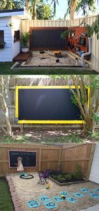 Beautify Your Backyard with this Gravel Sand Chalkboard Play Area