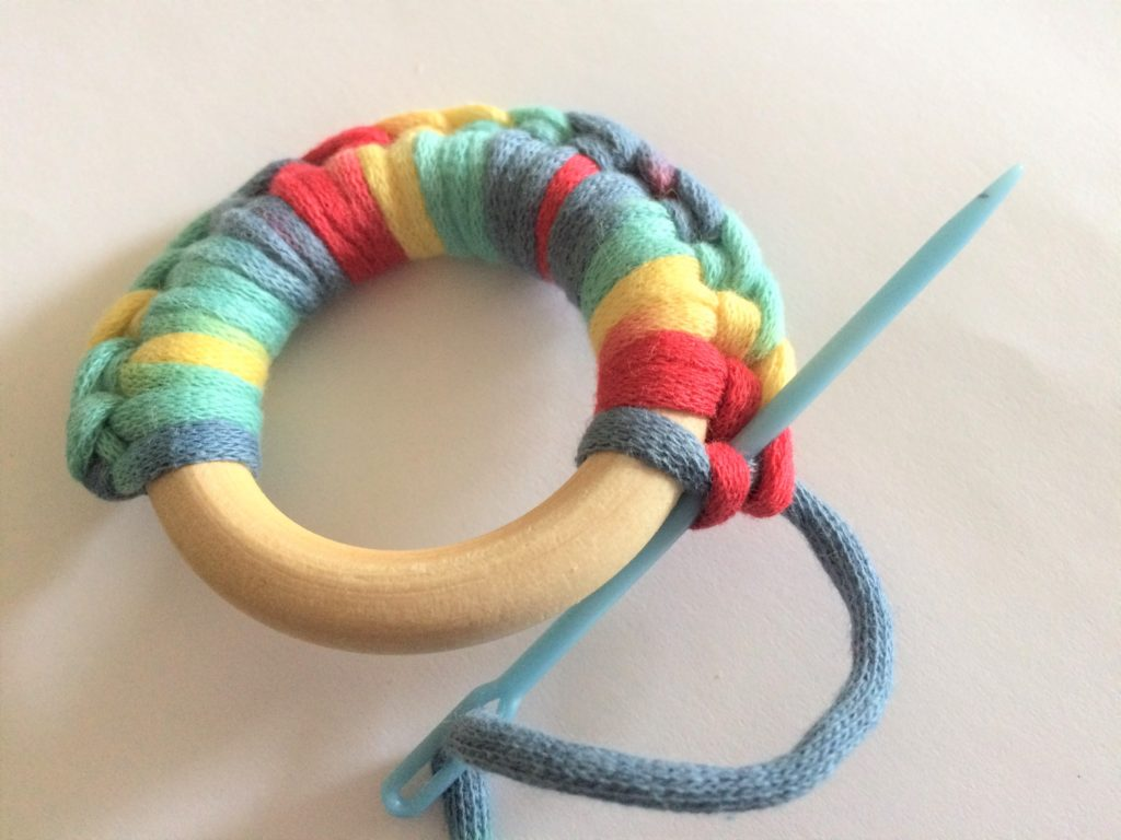 4 Crochet and Wooden Baby Teether
