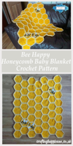 14 Crochet Happy Bee Honeycomb