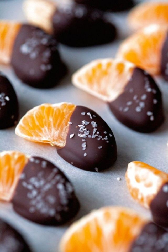 Dip Mandarin in Chocolates for New Year party Food