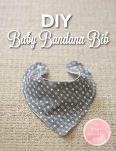 1 DIY Baby Bandana Bib