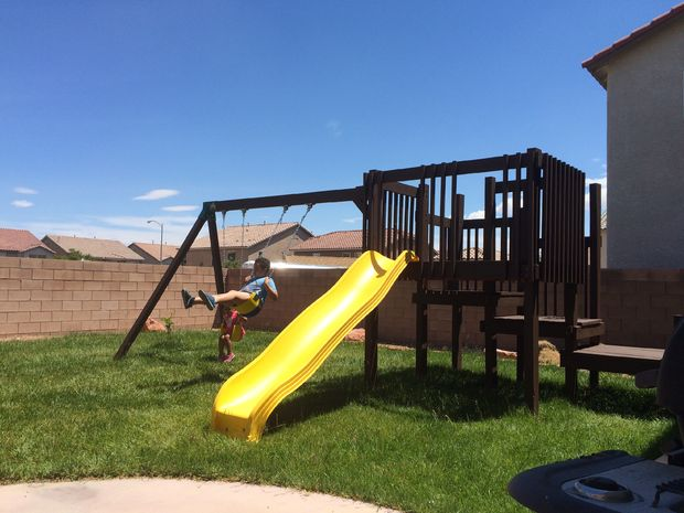 16 DIY Homemade Playset with Attached Swing
