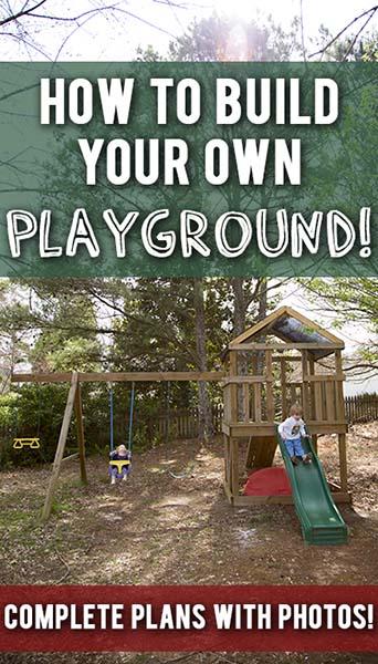 19 DIY Nice Playground with Swing Slide Playhouse