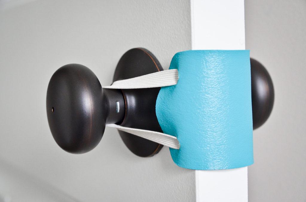 15 DIY NoSew Door Latch Cover