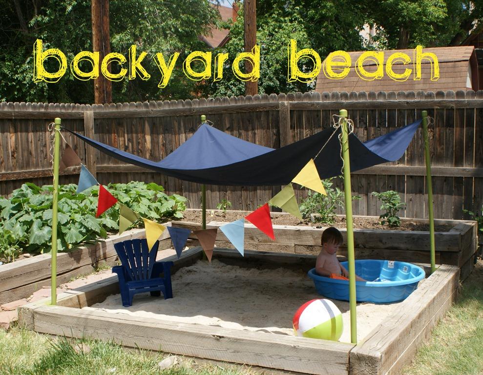 10 DIY Small Beach in the Backyard inside Rustic Wooden Frame