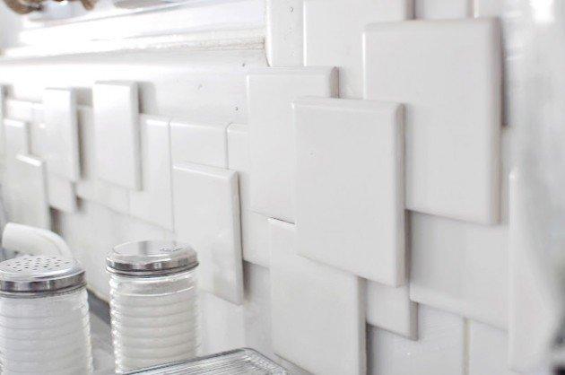 40 DIY Tiles Kitchen Backsplash with a 3D Effect
