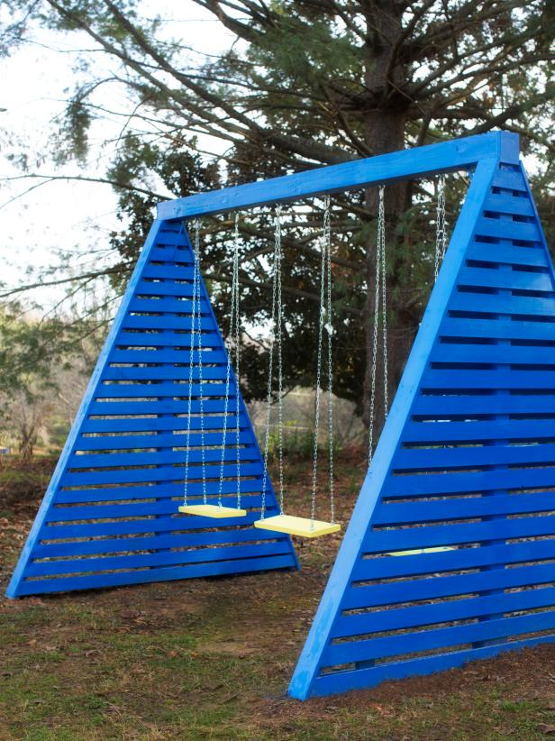 17 Durable Tripe Swing Sets with the Modern AFrame