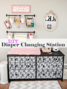 18 Exciting DIY Baby Diaper Changing Station