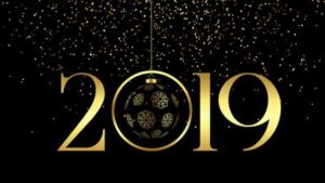 2019 Gold and Glitter New Year Greetings