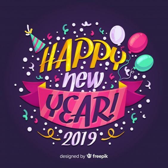 Happy New Year 2019 Graphic Greeting Whatsapp Status