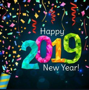 Happy New Year 2019 Greeting Image
