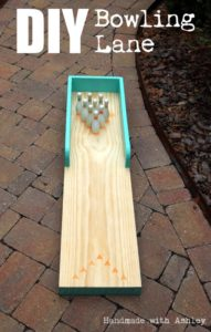 How to make a small outdoor bowling lane for kids