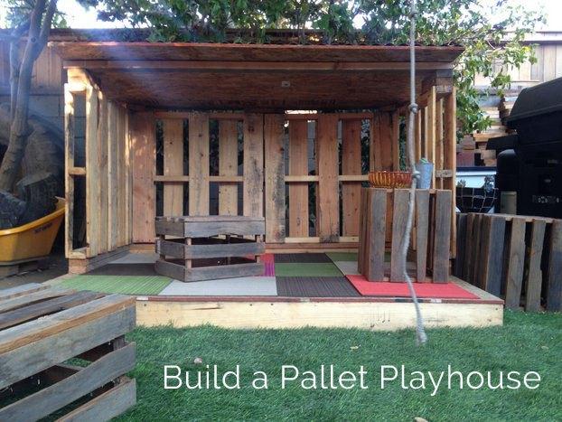 34 Inexpensive Palletmade DIY Playhouse