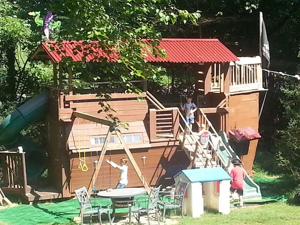 39 Intricately Made Pirate Ship Playhouse