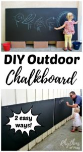 Make an Inexpensive Outdoor Play AreaChalkboard