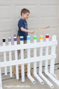Make an outdoor PVC xylophone