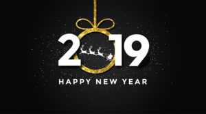 Minimalist Happy New Year Greeting 2019