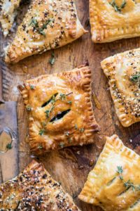 New Year Food Ideas Spinach and Cheddar Pastry