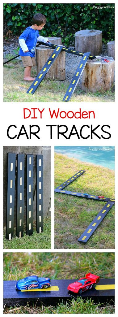 DIY Outdoor Wooden Toy Car Track
