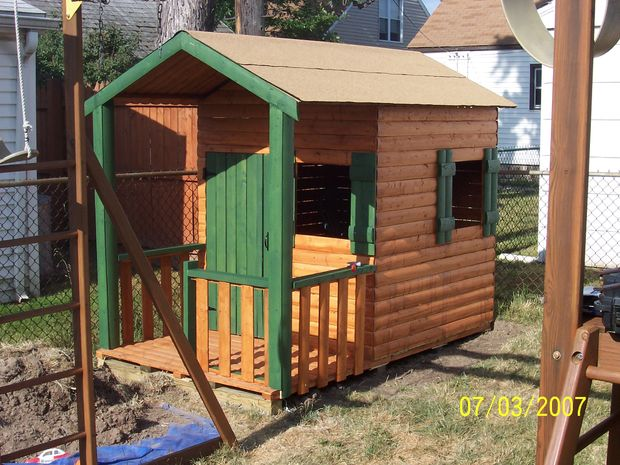 36 Plain Log Cabin Playhouse Structure