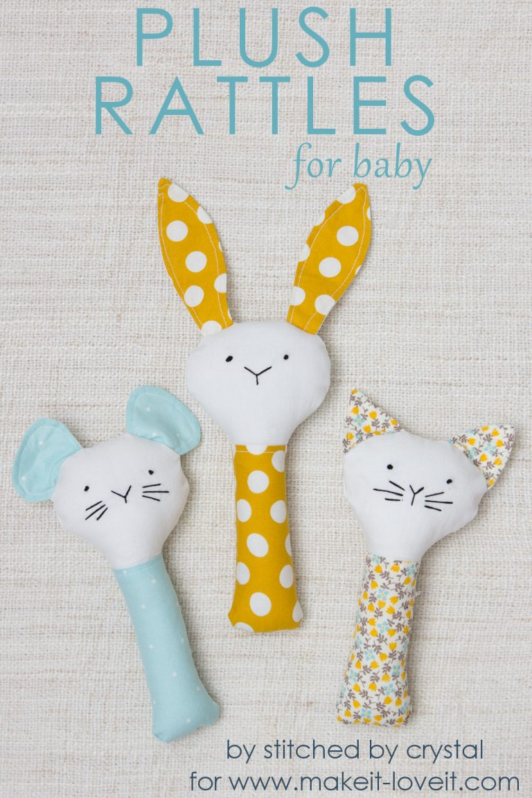 7 Plush Rattle in Mammal Shape for Babies