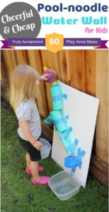 Pool noodle Water Wall for Summer Activities