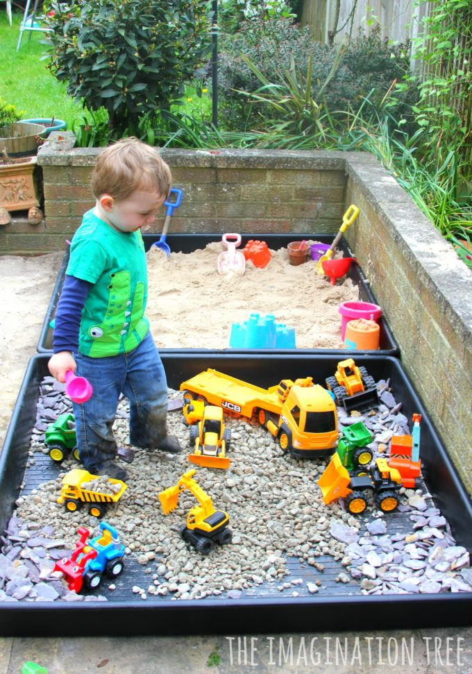 Sandpit and Gravel Construction Site Outdoor Play Area