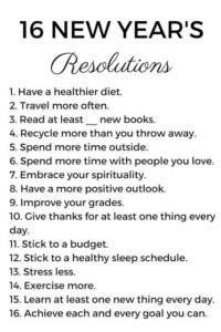 Simple New Years Resolution Ideas You can Try