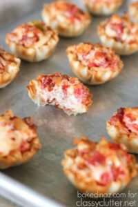 Spicy and Cheesy Tomato Bacon Bites for New Year Party Food