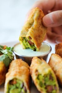Surprising Easy to Make Avocado Egg Roll for New Year Party Food