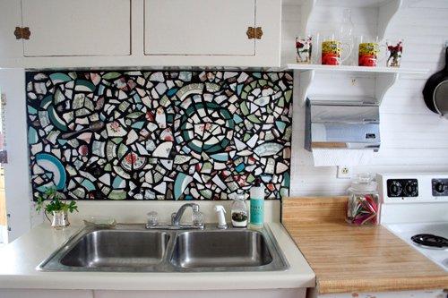 Superb 16 Trendy Diy Backsplash Mosaic From Old Broken Plate Pieces Home Remodeling Inspirations Genioncuboardxyz