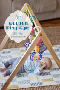10 Wooden Baby Gym Tutorial